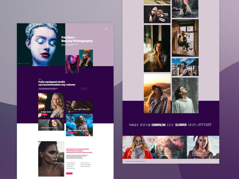 Fashion Photography Web Design graphic  design branding porfolio website photography website jb design studio web design ui