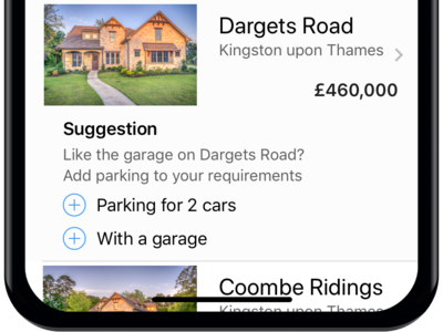 Property Search Refinement iPhone App