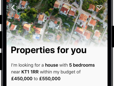 Property Search iPhone App search app ui ux property iphone ios filters design