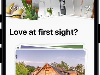 Property Tindereqse iPhone App search app ux ui property iphone tinder ios design