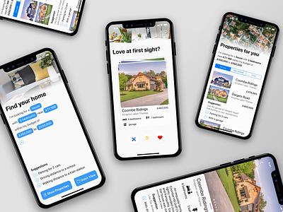 App Sauce Property app design tinder search filters app ux ui property iphone ios design