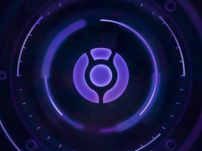 Kokyo Emblem sci-fi tech modern digital glow purple esports kokyo hud emblem