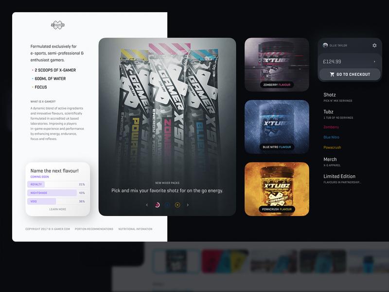 X-Gamer Concept: Homepage design web website ui esports e-comerce store gamer gaming energy drink x-gamer