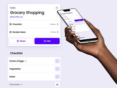 Doit app UI #2 mobile ui tools todo app todo purple mobile doit app
