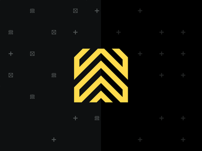 Loadup Logo up upload pattern hazzard yellow visual identity loadup logo