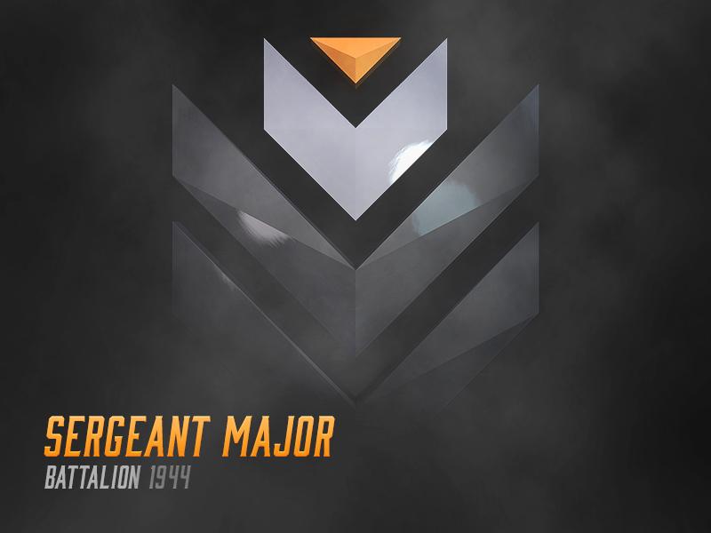 Sergeant Major | Rank Icon c4d 3d ui battalion game sergeant rank forum icon