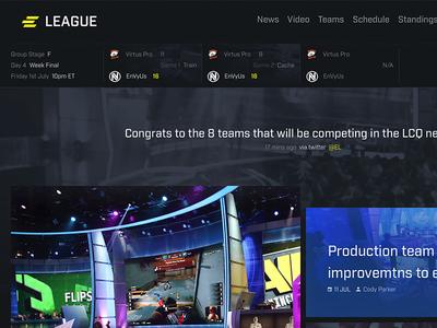 ELEAGUE Homepage Re-Design