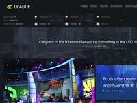 ELEAGUE Homepage Re-Design