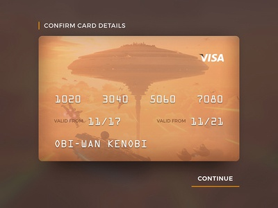 Credit Card - #dailyui #002