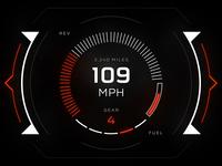 HUD UI - Speedometer