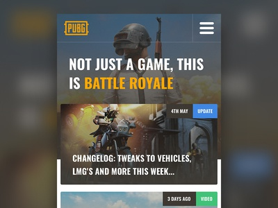 PlayerUnknown's Battlegrounds: Mobile Site Concept