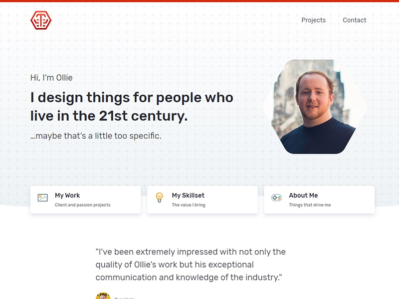 My new portfolio esports gamer design ux ui designer homepage website portfolio