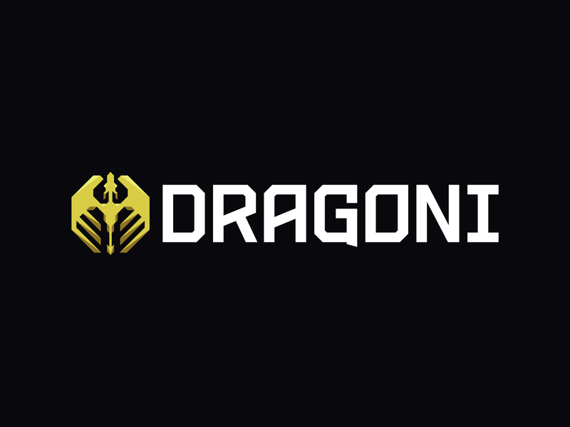 Dragoni Logo Main modern yellow betting dragon branding logo esports gaming