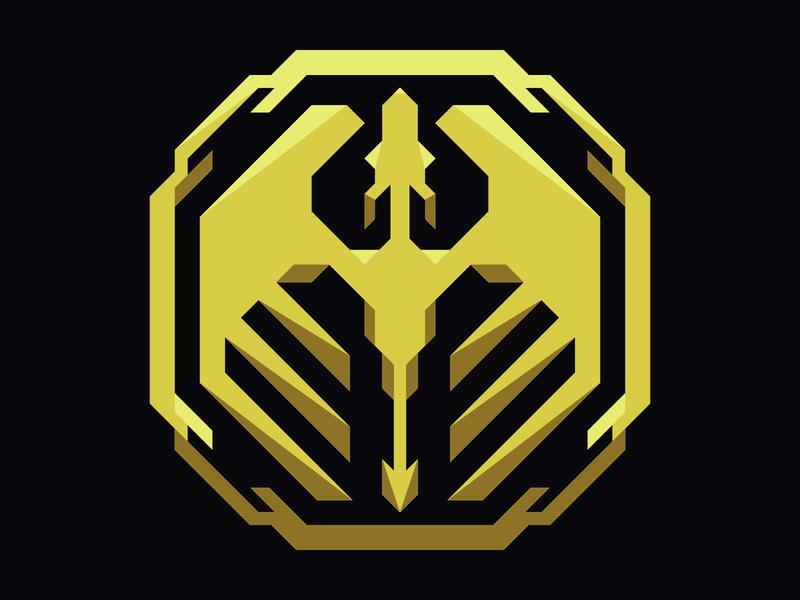 Dragoni Logo Icon chip modern betting icon yellow dragon branding logo esports gaming