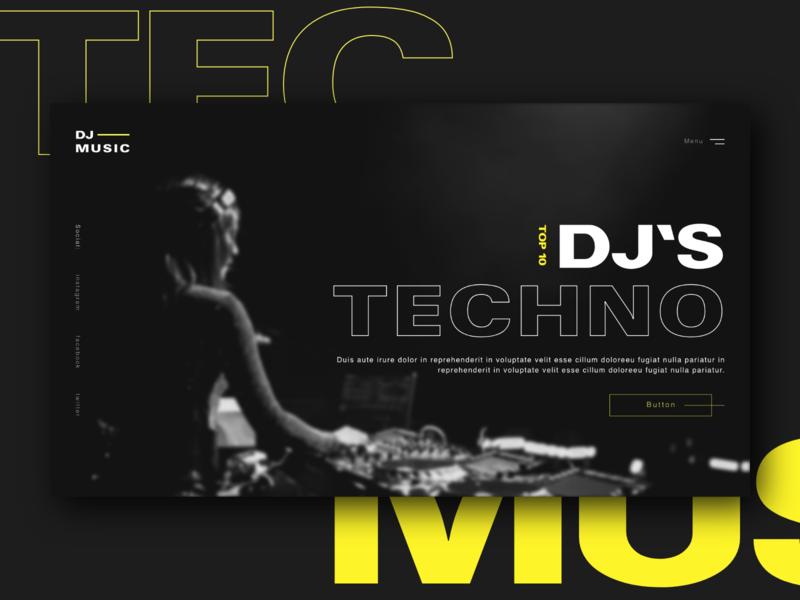 Website Concept - Techno music