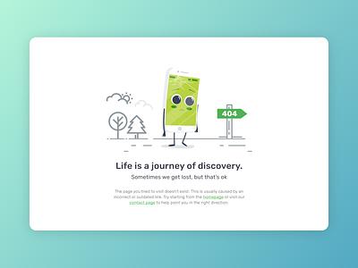 404 Page UI design ux ui website illustration