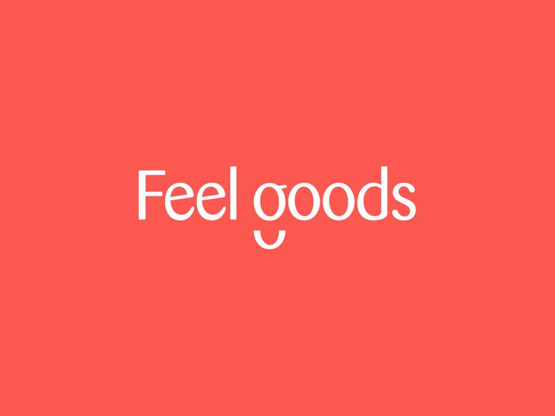 Feel Goods color identity typography logo branding design
