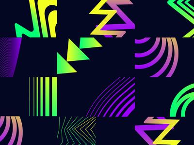 Shapes lines color illustrator shapes design