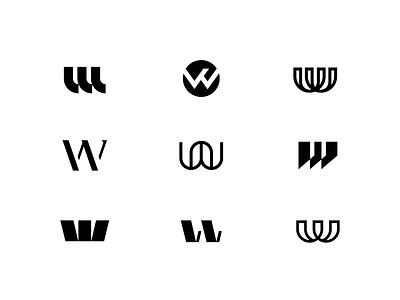 W lines shapes identity illustrator logo branding design