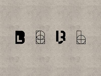 BL Exploration identity shapes logo branding design