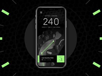 Golf Ball Tracker layout concept app ux ui shapes typography branding design