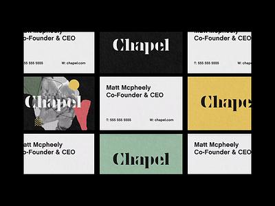Chapel BTS exploration logo design brand identity fathom and draft logo typography identity branding design