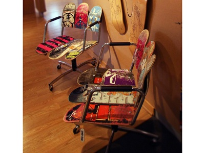Skate Deck Chair Furniture Design furniture upcycling