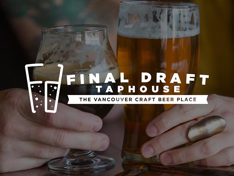 Final Draft Taphouse Logo taphouse beer branding logo
