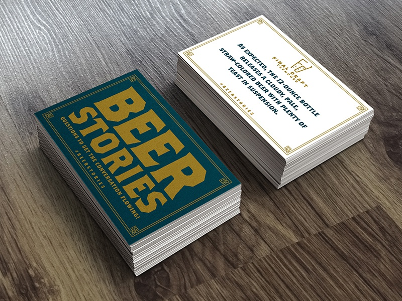 Beer Stories Playing Cards beer branding playing cards