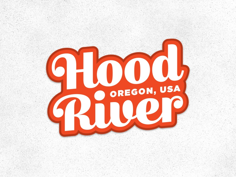 Hood River sticker losttype bumpersticker oregon sticker