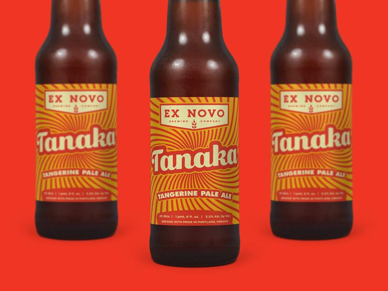 Tanaka Tangerine Pale Ale  beer design craft beer packaging beer beer label
