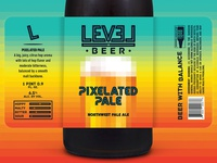 Level Beer - Pixelated Pale Label
