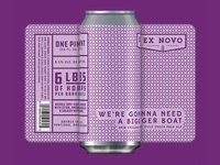 Ex Novo Brewing - We're Gonna Need a Bigger Boat can label