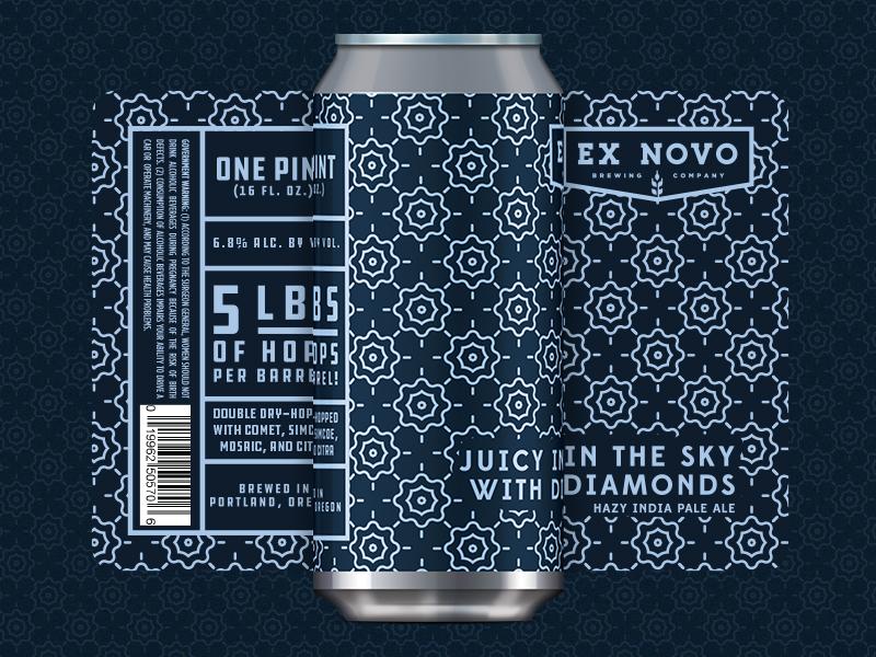 Ex Novo Juicy in the Sky with Diamonds packaging craft beer beer label beer