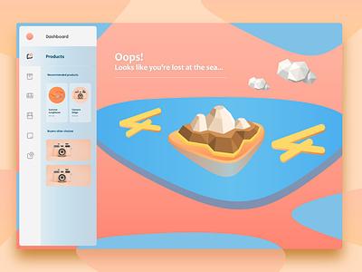404 SITE website web ux mobile ui vector illustration design
