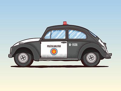Police Car beetle grain vector car police