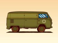Army VW Kombi