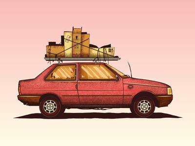 Premio holidays sun tropical design illustration graphic design pink travel brazil vector illustrator truegrit truegrittexture grain texture grain car