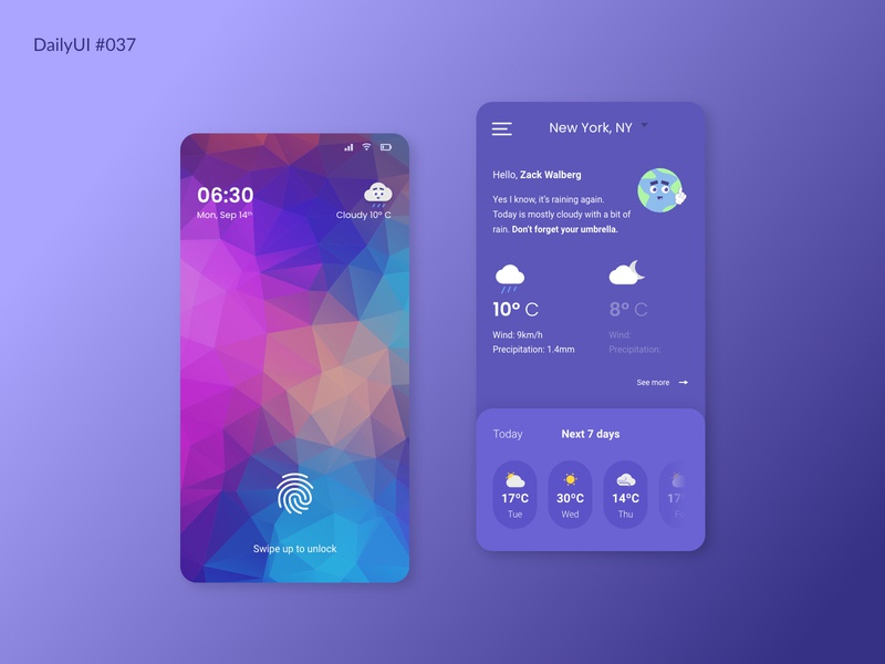 Daily UI #037 - Weather daily ui 37 illustration dailyui dailyuichallenge ui daily 100 challenge weather