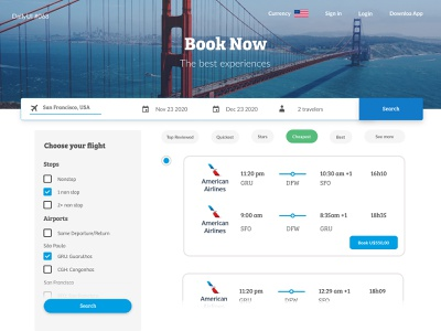 Daily UI #068 -  Flight Search booking.com booking daily 100 challenge dailyui dailyuichallenge daily ui challenge daily ui 68