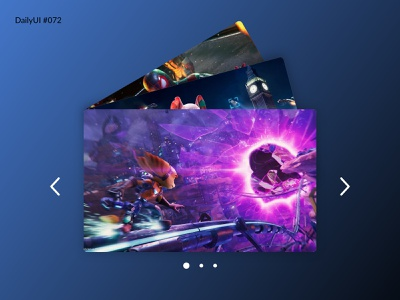 Daily UI #072 - Image Slider ps5 games ps5 daily 72 dailyui design daily 100 challenge dailyuichallenge