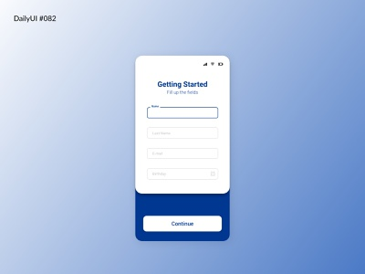 Daily UI #082 - Form form field daily ui 82 studying ui design dailyui dailyuichallenge daily 100 challenge forms form