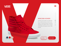 Vans Off The Wall Red