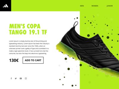 ADIDAS COPA UI graphic illustration design colors