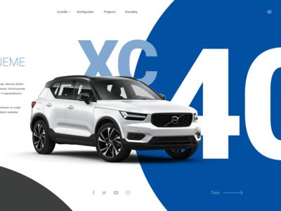 Volvo XC40 UI crazy ui coloring branding vector typography design colors
