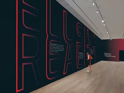 Elusive Reality | Exhibition Identity exhibition environmental graphics logo typography branding design