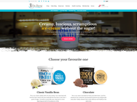 Home Page Design for Ice Cream Brand