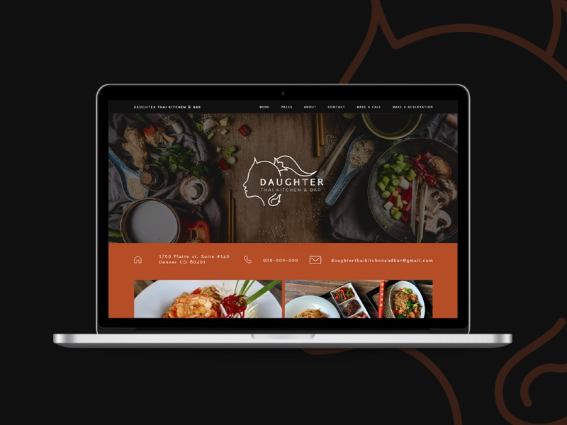 Daughter Thai Kitchen Bar By Ratchapon On Dribbble