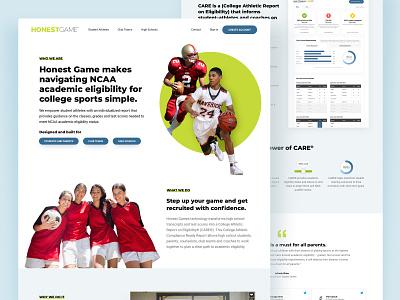 Honest Game Marketing Site students athlete marketing site