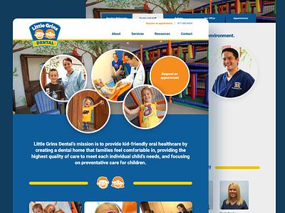 Little Grins Dental dental website design dental care playful kids dental